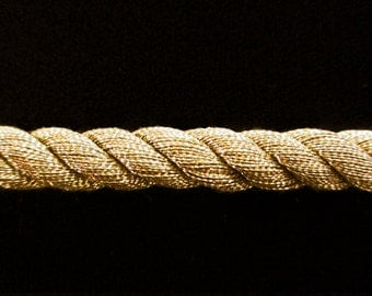 """314.2 Large Cord - antique-gold 5/16"""" (8mm)"""