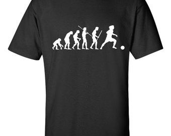 Evolution of Man Soccer T shirt Little Major League Football Ball Sport College Pro Olympic Tee