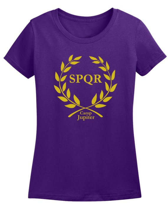 Ladies Camp Jupiter SPQR Purple T shirt