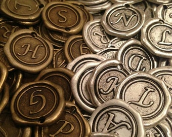Wax Seal Initial Vintage Inspired Charms