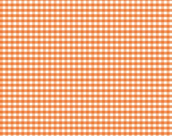 Riley Blake Small Orange Gingham Check