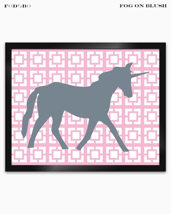 Unicorn wall decor for girls room decor baby girl nursery art for Room decor etsy
