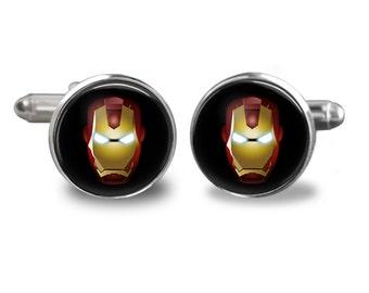 Personalized Cufflinks for Men, Novelty Cufflinks, Superhero Cufflinks, Gift for Him, Men, Groom, Groomsmen, Father