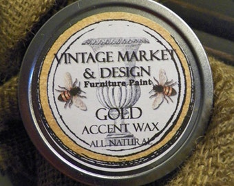 FREE SHIPPING!! Vintage Market & Design's Accent Wax- Gold
