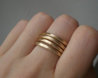 Band ring // Adjustable ring // Statement ring // Aluminum ring