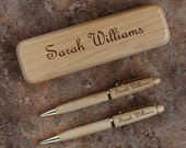 Designs Maplewood Collection Personalized Pen, Pencil, and Letter Opener Gift Sets with Product Choices & Choice of Font From Our Selection