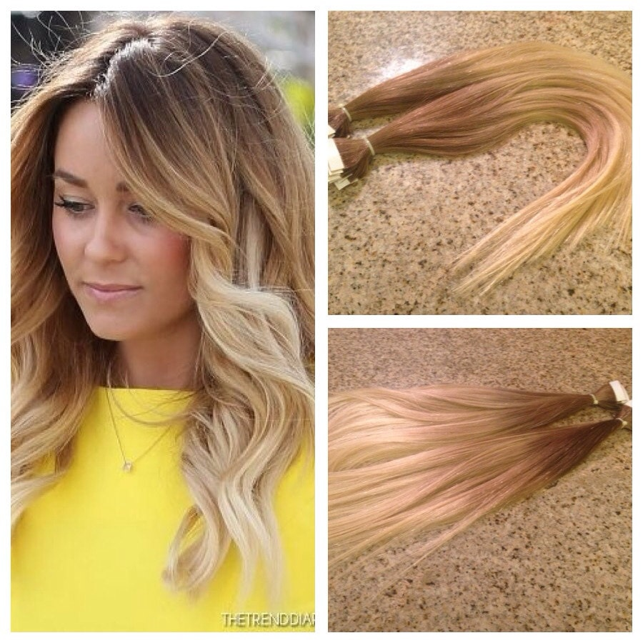 5 star ombre cuticle remy human hair keratin fusion tape in zoom pmusecretfo Gallery