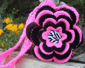 """Crochet Layered """"Flower Power"""" Puff Purse"""