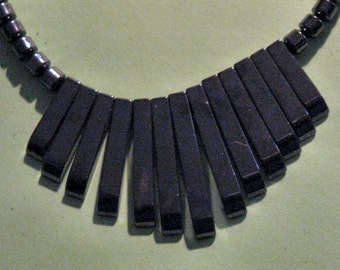 HEMATITE BEAD NECKLACE 20 inches long