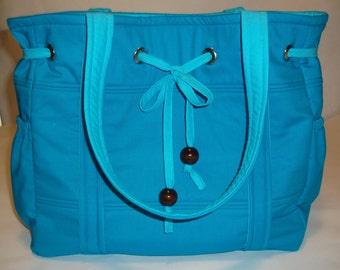 Tote Bag Diaper Bag, Teal