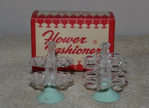 "Vintage FLOWER FASHIONERS- Gadjo 610 and 611 ""FROG""  Flower Arrangement Tool"