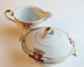 Meito China Ivory Cream and Covered Sugar Set