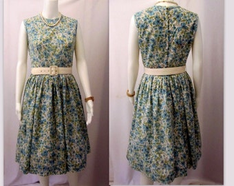Vintage 50s Dress, 50's Swing Dress, 50s Rockabilly Dress, Mid Century Dress