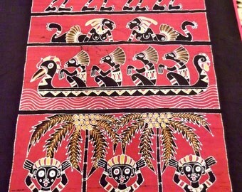 Vintage 1980's Hand Dyed/Hand Crafted Bali Batik Bedcover