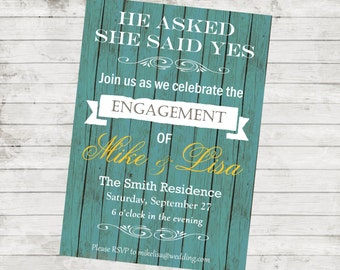 Printable Engagement Party Invitations