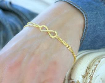 14k Gold Filled Infinity Bracelet Infinity Jewelry Infinity Bracelet eternity bracelet love bracelet friendship bracelet infinity bracelet