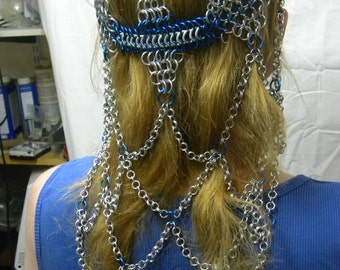 Chainmaille headdress 4 tier