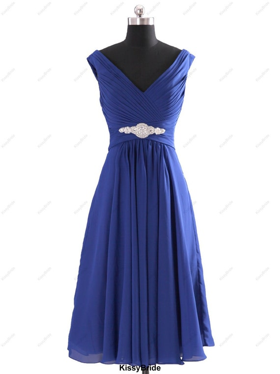 Short bridesmaid dress - royal blue bridesmaid dress / purple bridesmaid dress / red bridesmaid dress / short blue evening dress