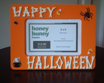 Hand Crafted 4 x 6 Picture Frame - Halloween