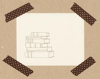 Books // Stempel 2 x 2 cm