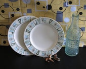 Taylor Smith & Taylor Atomic Taylorstone Cathay Mid Century Modern Bread and Butter Plates
