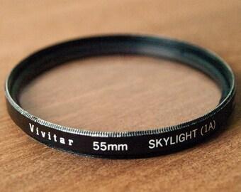 WORKING Vivitar Skylight Filter 55mm, Camera Filter, Skylight Filter, SLR Filter, 55mm Camera Filter, Film Filters, Film Camera Filter