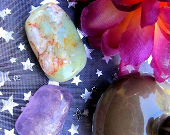 Chrysoprase Healing Crystal, Amethyst, Heals The Heart, Helps Dissolve Pain, Loving Vibrations, Tranquility, Peace Of Mind