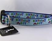 "Birthday Boy Dog Collar 1"" wide"
