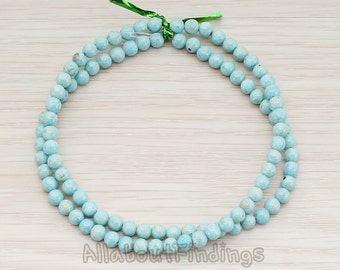 ETC999-01-LM // Lignt Mint Colored Round Artficial Jade Stone, 4mm, 1 Strand