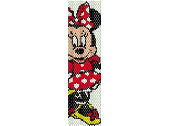 Minnie Mouse Bead Peyote Pattern Beading Pattern Stitch