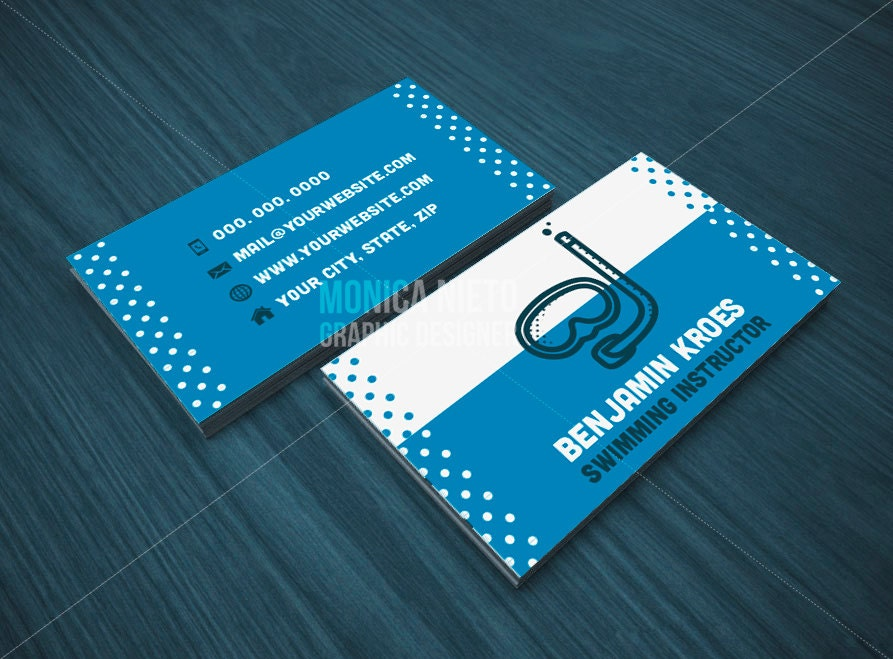 personal trainer business card template