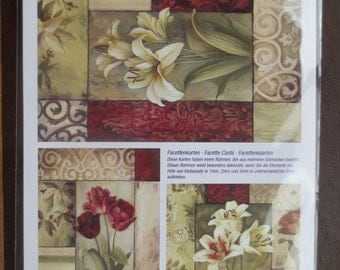 Lily and tulip 3-D decoupage sheet