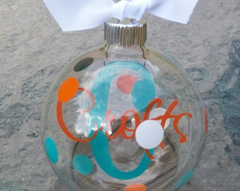 Custom Personalized Christmas Ornament