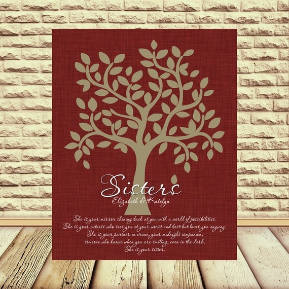 Wedding Gift Wall Art : SISTER Wedding Gift Wall Art, Bridesmaid, Maid of Honor, Sisters Gift ...