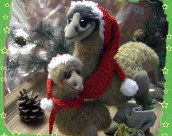Scharlotte und Lilliput the Emus ...E-Pattern ca.24cm