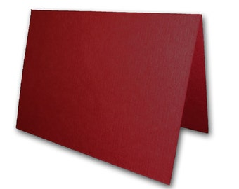 Dark Red Place Cards 25 pack