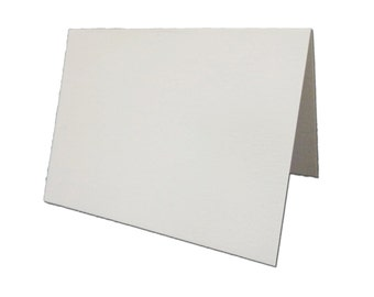 Blank Metallic White (Ice Silver) Place Cards 25 pack