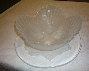 Crystal Shell Bowl and Platter