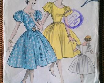 "Vintage 1950s Weigels dress pattern.  Size 34.5"" Bust."