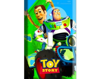 Woody Buzz Lightyear racing car Toy story single Double light switch cover plate children room decor