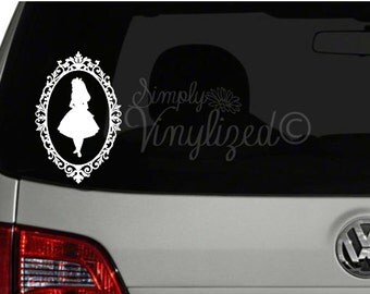 Alice In Wonderland Cameo - Disney - Inspired - Laptop - Car Window - Vinyl - Decal - Sticker