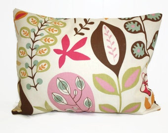 Decorative  lumbar pillow 12x16 Whimisical Pillow Cover