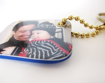 Personalized Photo Mini Keychain, perfect gift idea for grandparents, Party Favor, holidays, birthdays, Christmas gift
