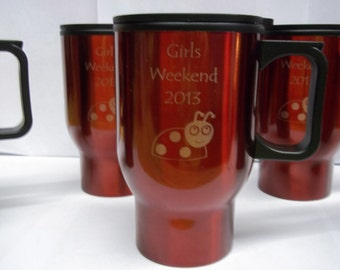 Travel Coffee Mug, Personalized, Customized