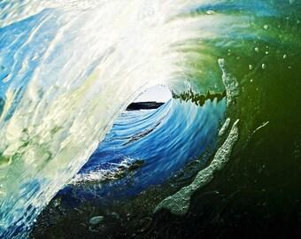 5x7 Ocean Surf Wave California Photography Print
