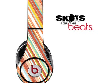 Vintage Slanted Striped Skin for the Beats by Dre Studio, Solo, MIXR, Pro or Wireless Version Headphones