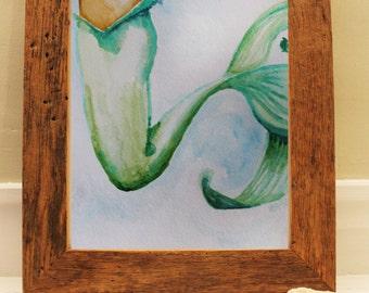 "Fine Art Print, Watercolor, mermaid, ""Fishtail"""