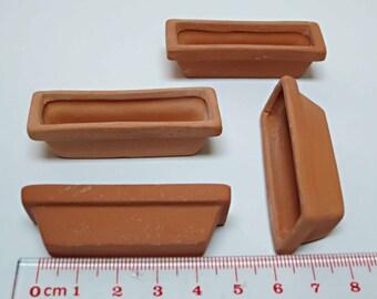 Miniature  Ceramic Garden flower pot 4PCS