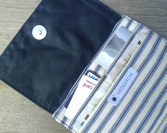 Blue Waxed Canvas Wallet
