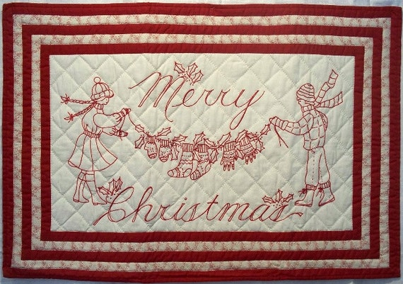 Redwork Quilt Patterns Christmas : Unavailable Listing on Etsy